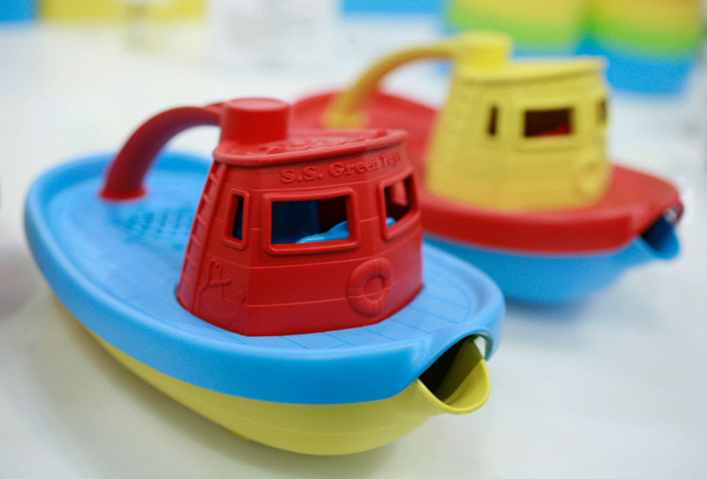 Green Toys, a San Francisco-based company, makes toy tugboats from recycled plastic milk containers that are free of BPA, PVC and phthalates. Associated Press file photo