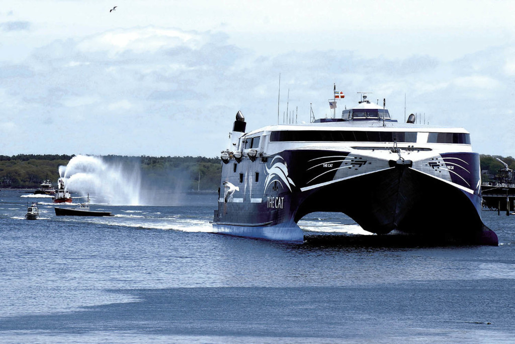 From 2006 to 2009, Bay Ferries Ltd. ran high-speed ferry service between Portland and Yarmouth, Nova Scotia, with The Cat. Now, the company is looking for another vessel to serve the same route starting in 2016.