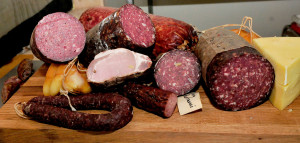 The Charcuterie shop in Unity sells a variety of smoked meats. David Leaming/Morning Sentinel