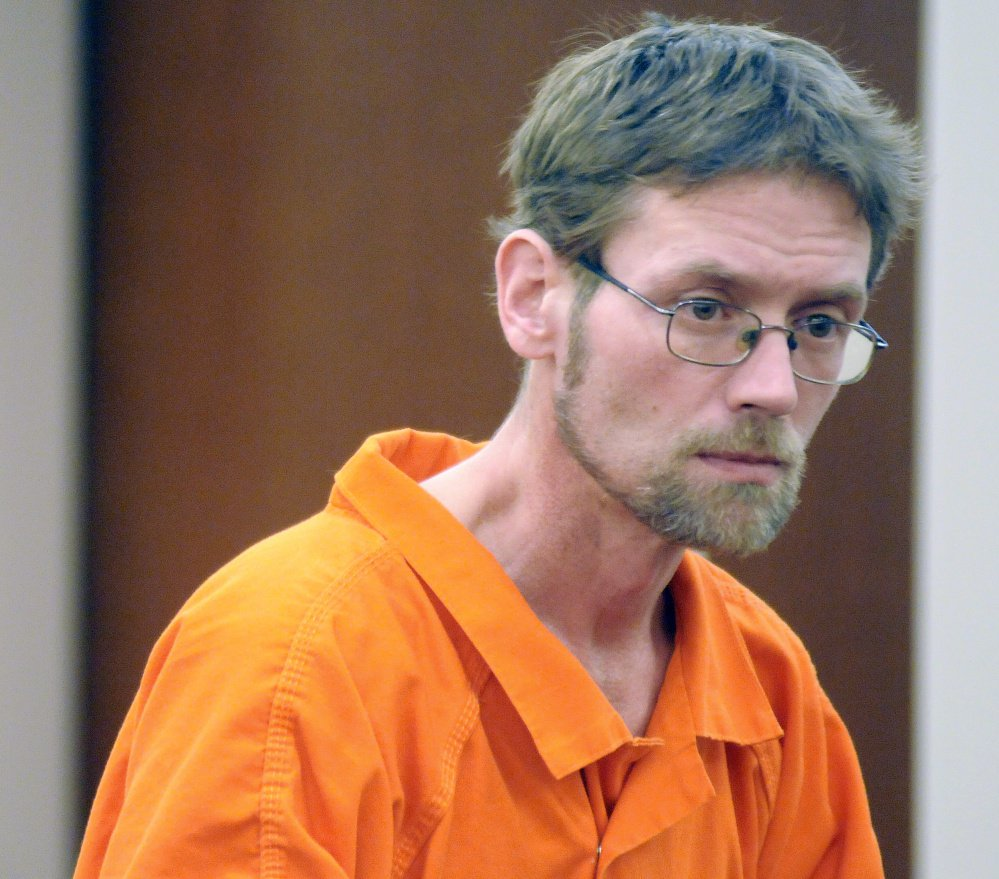 Michael Sean McQuade appeared Tuesday at Kennebec County Superior Court to plead not guilty to charges of murder, felony murder, and robbery.