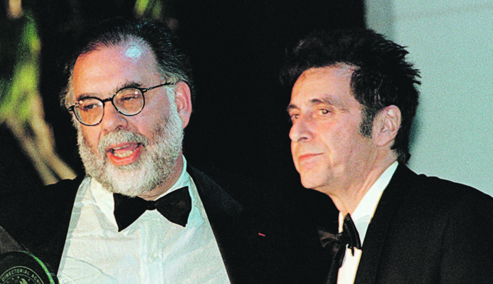 """The Godfather,"" directed by Francis Ford Coppola, left, allegedly wouldn't have included Al Pacino, right, without Chicago mob associate Sidney Korshak's intervention to get MGM to free the actor from another film."