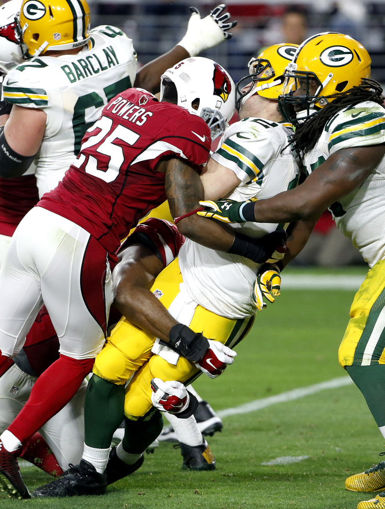 Green Bay quarterback Aaron Rodgers took a pounding last time he faced the Cardinals, getting sacked eight times in a 36-6 loss. But nobody expects such an outcome Saturday night in Glendale when the same teams meet in the NFC divisional round. Among other factors, Arizona will be without one of its best pass rushers, linebacker Alex Okafor.
