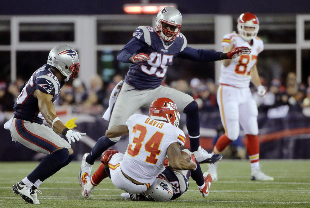 Defensive end Chandler Jones was traded by the New England Patriots on Tuesday to the Arizona Cardinals.