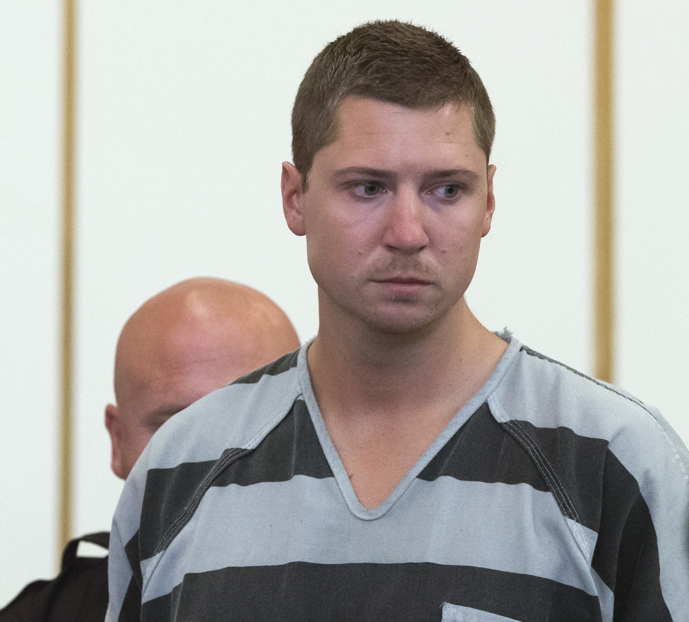 University of Cincinnati police Officer Ray Tensing appears for his arraignment in a fatal shooting in July.