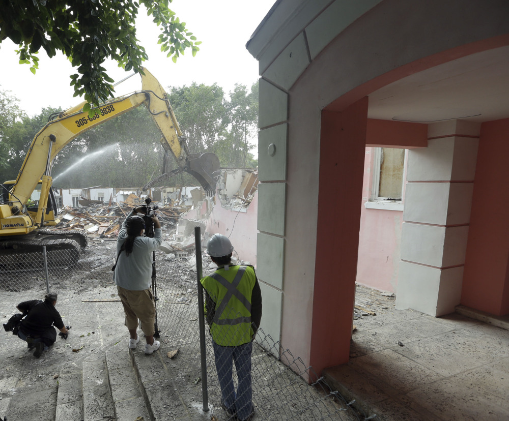 It's unclear whether the late Colombian drug lord Pablo Escobar spent any time in the mansion that's being destroyed.
