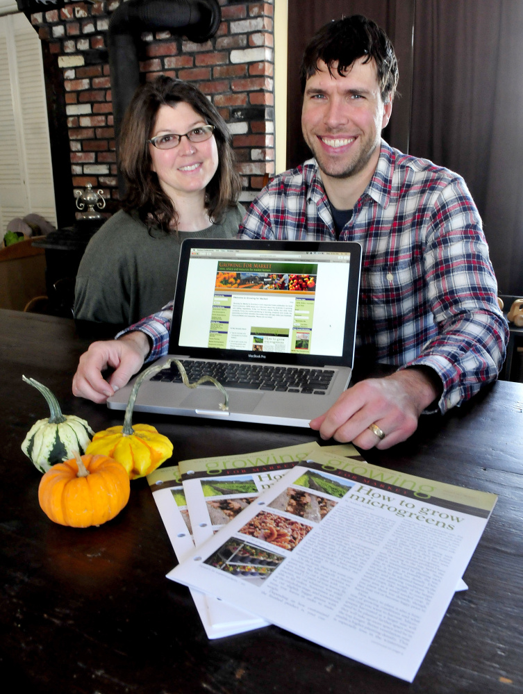 Ann and Andrew Mefferd now own Growing for Market magazine, which will be put together at their Cornville farmhouse.