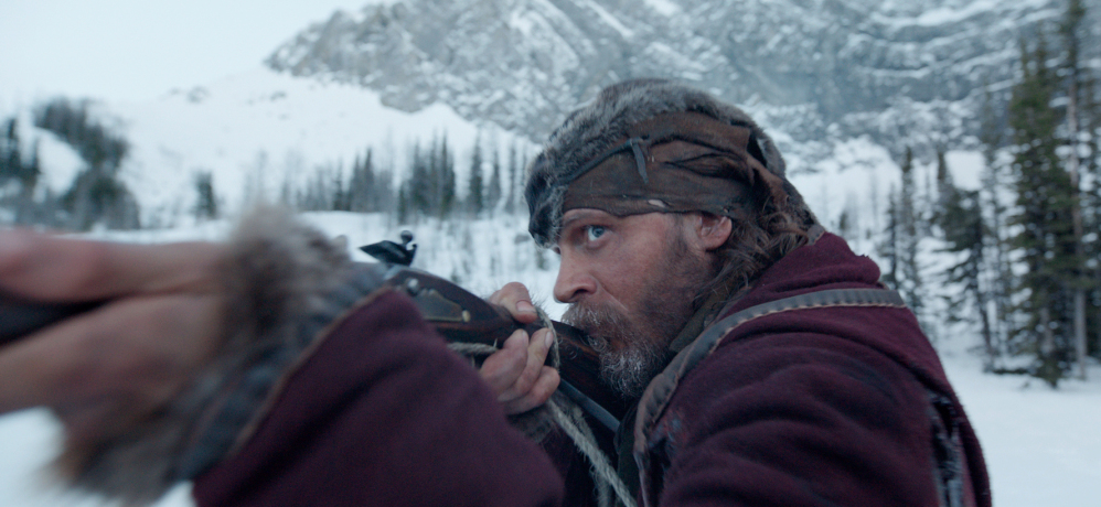 """Tom Hardy appears in a scene from the """"The Revenant,"""" which has taken in $119.2 million in North America so far."""
