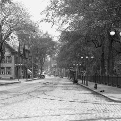 PORTLAND, ME - DECEMBER 18: Flashback image of Lincoln Park, right, on corner of Congress and Pearl Streets. (Photo by Gordon Chibroski/Staff Photographer)