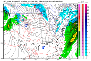 GFS Model Forecast Friday Credit:Weatherbell
