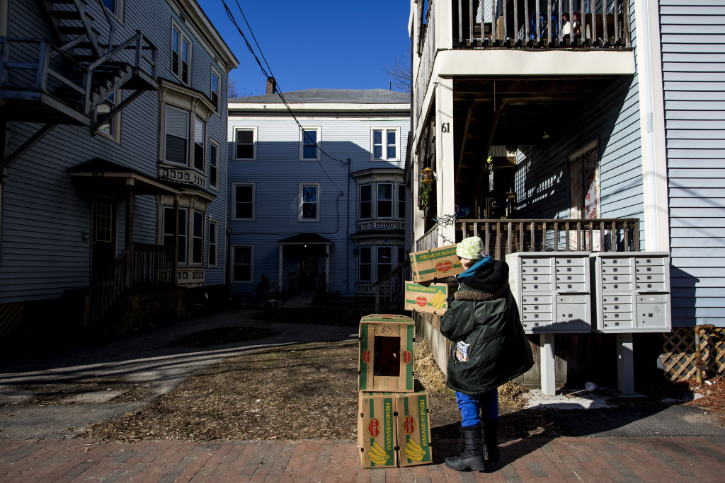 """Mayor Ethan Strimling said at Thursday's meeting that the eviction of tenants from a 24-unit apartment building at 61-69 Grant St. in February was a """"wake-up"""" call for the city. 2016 Press Herald file photo/Gabe Souza"""