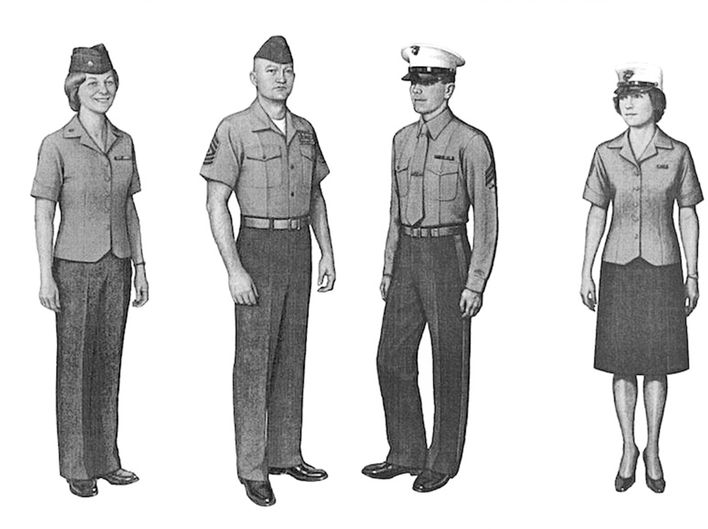 This image of standard-issue Marine uniforms is posted on U.S. Rep. Chellie Pingree's website with a caption that says: