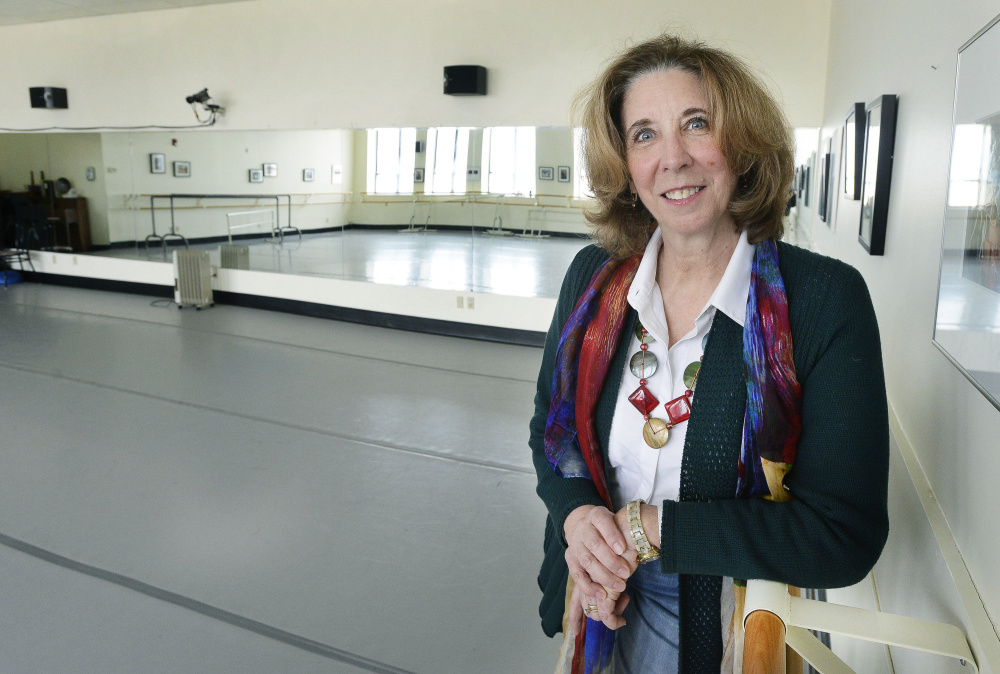 Eugenia O'Brien, seen in one of the dance studios, announced her retirement as executive and artistic director of the Portland Ballet in Portland. John Patriquin/Staff Photographer