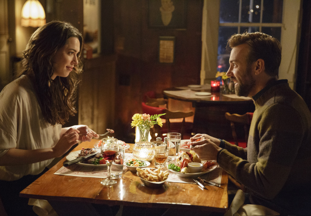 """Rebecca Hall and Jason Sudeikis in """"Tumbledown,"""" which was released Feb. 12."""
