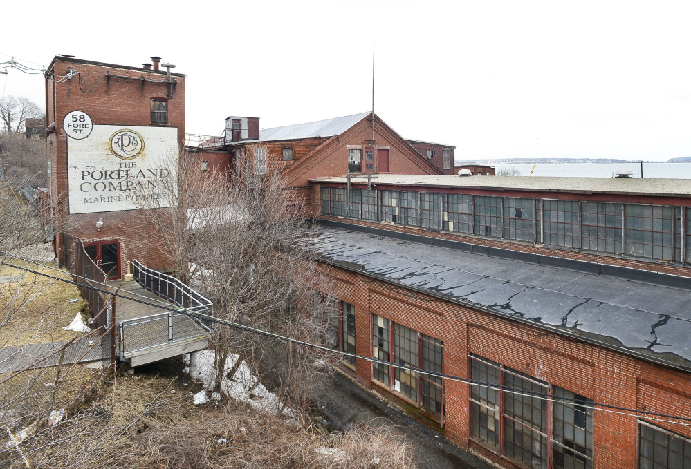 Preservationists want the former machine erecting shop at the Portland Co. complex to be saved and repaired.