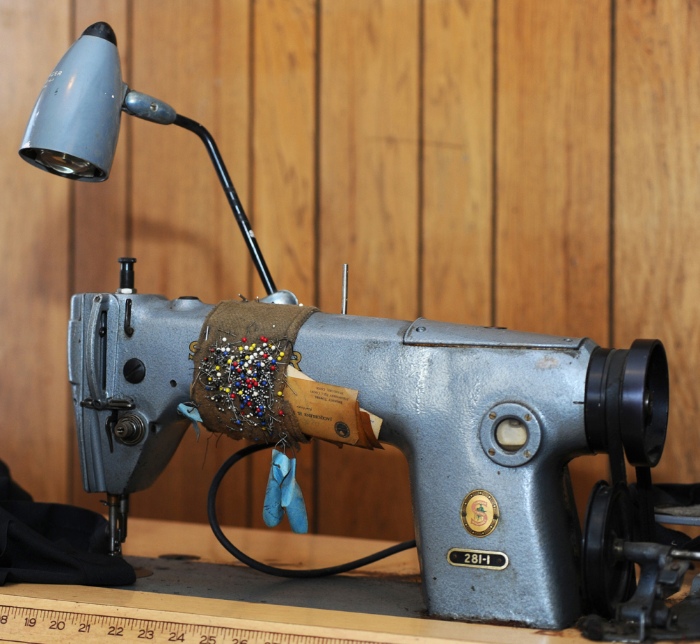 A sewing machine at Thomas Pia's home in Stamford, Conn., was used to sew space suits for American astronauts in the 1960s and 1970s.