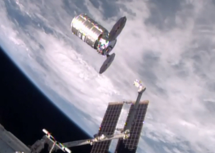 The International Space Station releases a capsule of trash over Bolivia. The capsule is expected to burn in the atmosphere Saturday.