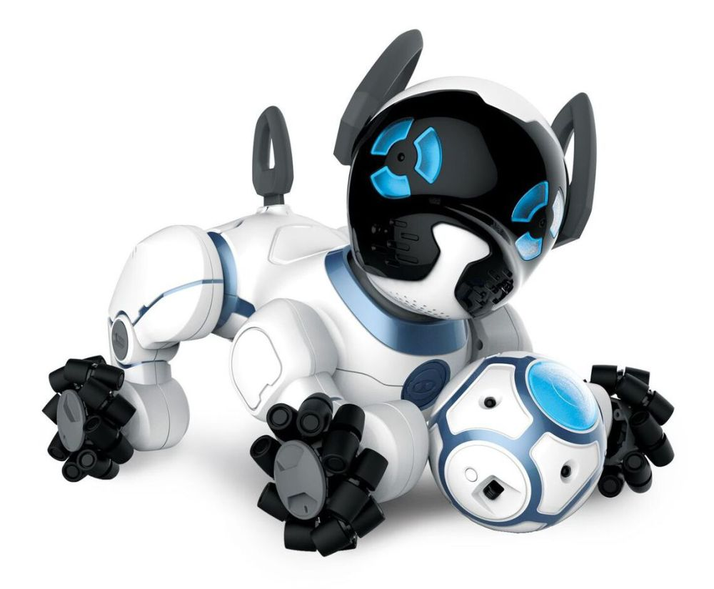 Controlled by a user's wristband, CHiP, the robot dog from WowWee, will follow its owner around, play soccer and learn many other tricks, including zooming around and avoiding obstacles. Designed for kids ages 8 and up, CHiP also automatically retires to its charging bed when it needs more juice.
