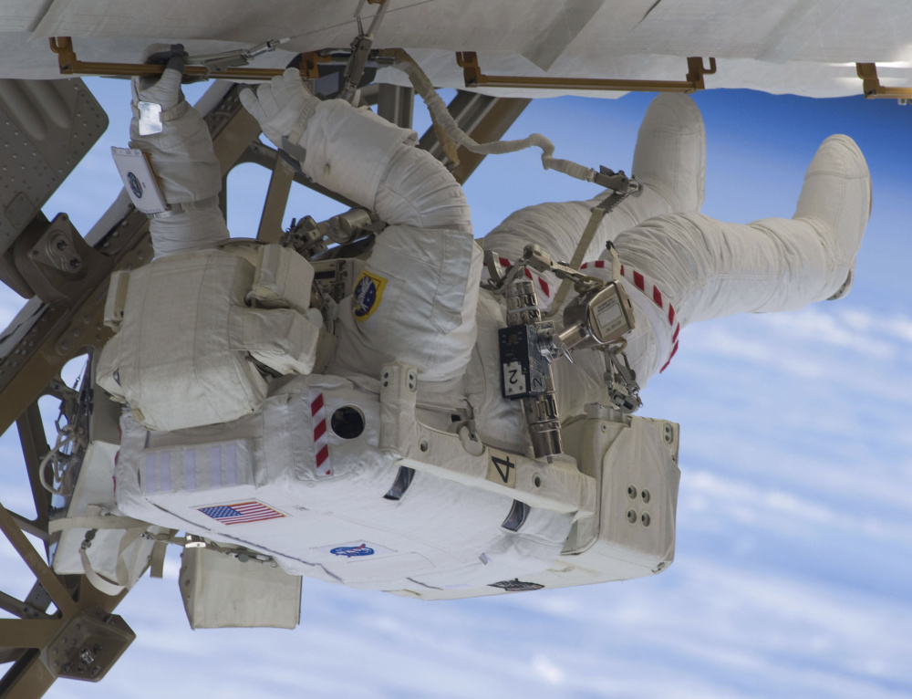 Astronaut Christopher Cassidy of York participates in Endeavour's third space walk on July 22, 2009.