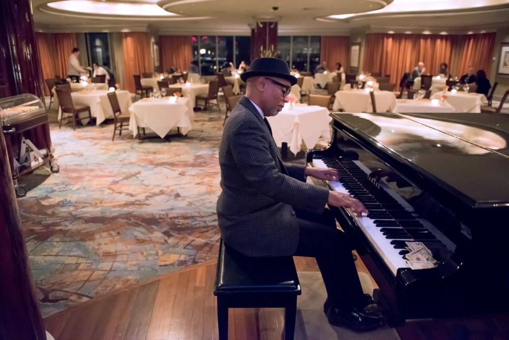 "Jack Madry plays ""Take Five"" by Dave Brubeck at the VUE 24 restaurant in Foxwoods Casino. Madry also serves as a pastor at the Madry Temple Church in New London, Conn."