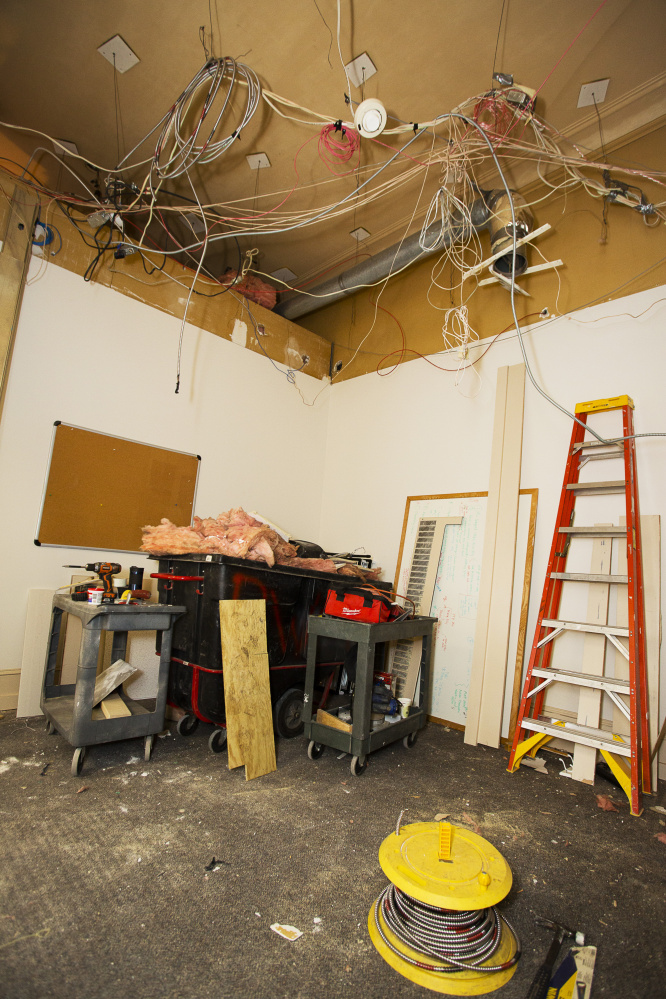 Cost of renovating the mayor's office is estimated at $5,000. (Carl D. Walsh/Staff Photographer)