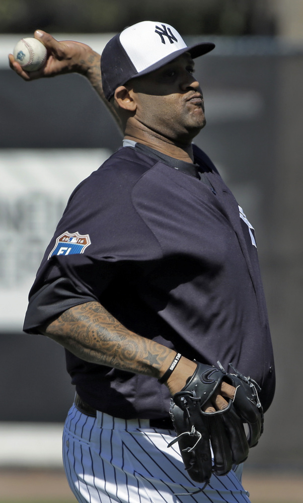 CC Sabathia looks and sounds healthier as the new baseball season approaches. The Yankees hope he stays off the disabled list this year.