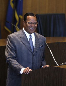 Nation of Islam leader Louis Farrakhan says his group could provide security for Beyonce. The Associated Press