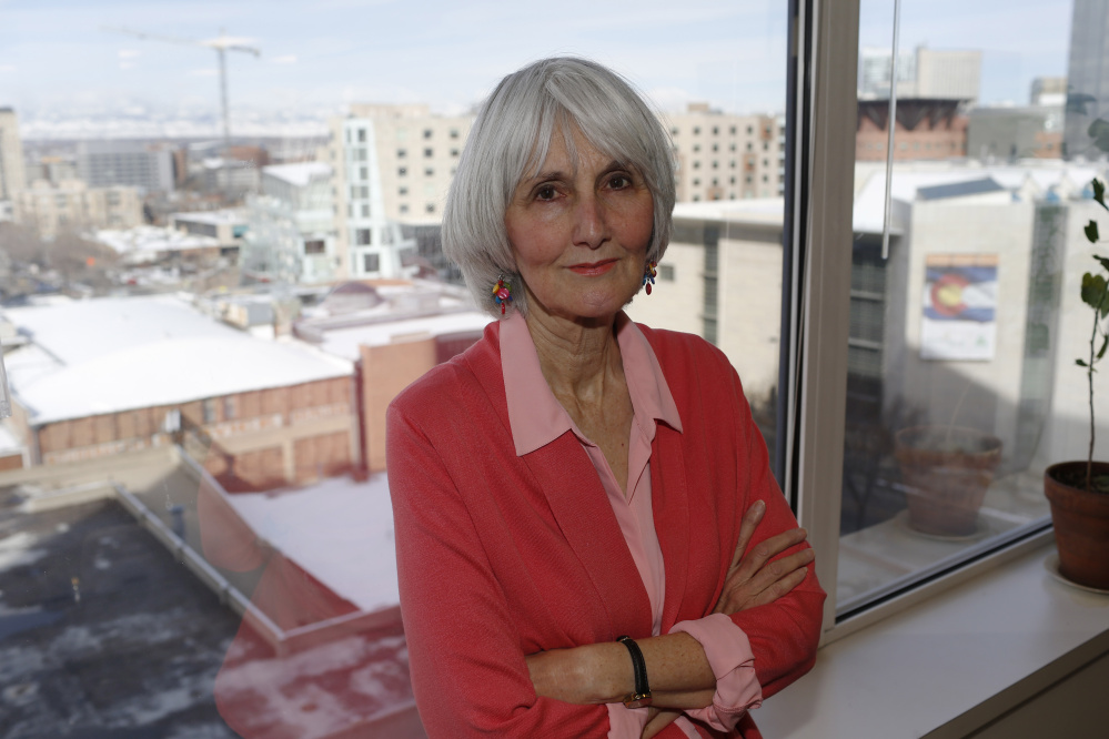 """Speaking out has been cathartic for Sue Klebold, the mother of one of the two students involved in the 1999 massacre at Columbine High School in Littleton, Colo. Her newly published memoir, """"A Mother's Reckoning: Living in the Aftermath of Tragedy,"""" explores the causes of her son's violence and ways to prevent future attacks through mental health awareness. Left, Dylan Klebold, left, and Eric Harris."""