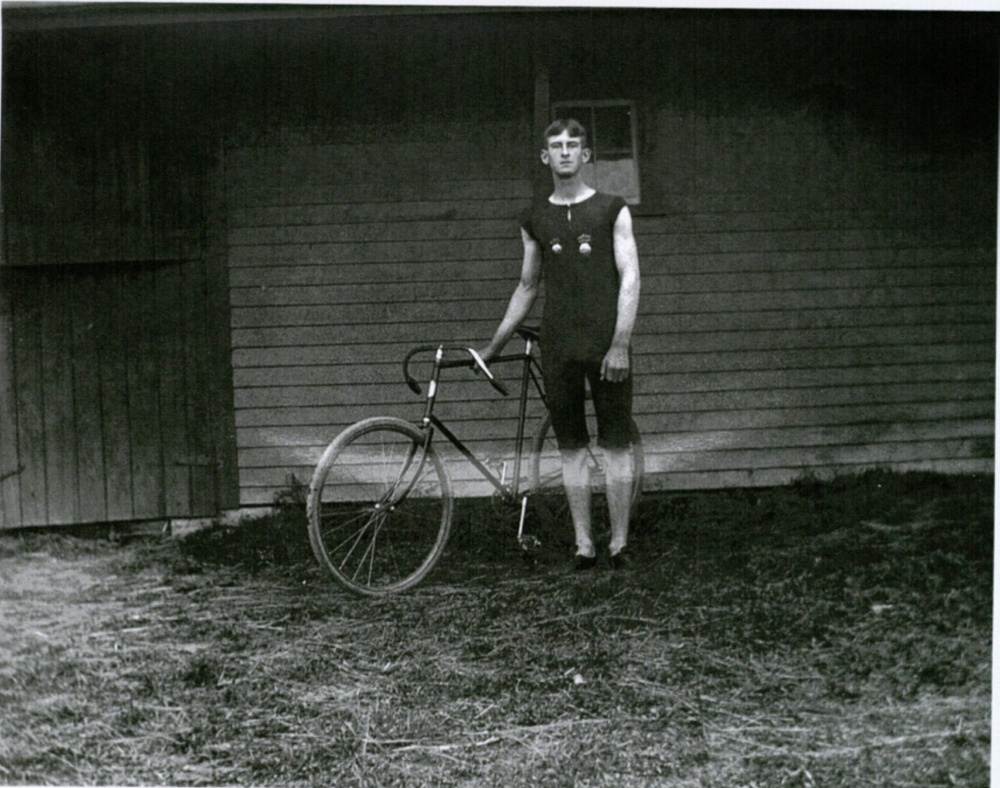 A University of Maine student, James Arthur Hayes, took this photo around 1900. The arrival of bicycles affected Maine in many ways, including the pace of road paving.