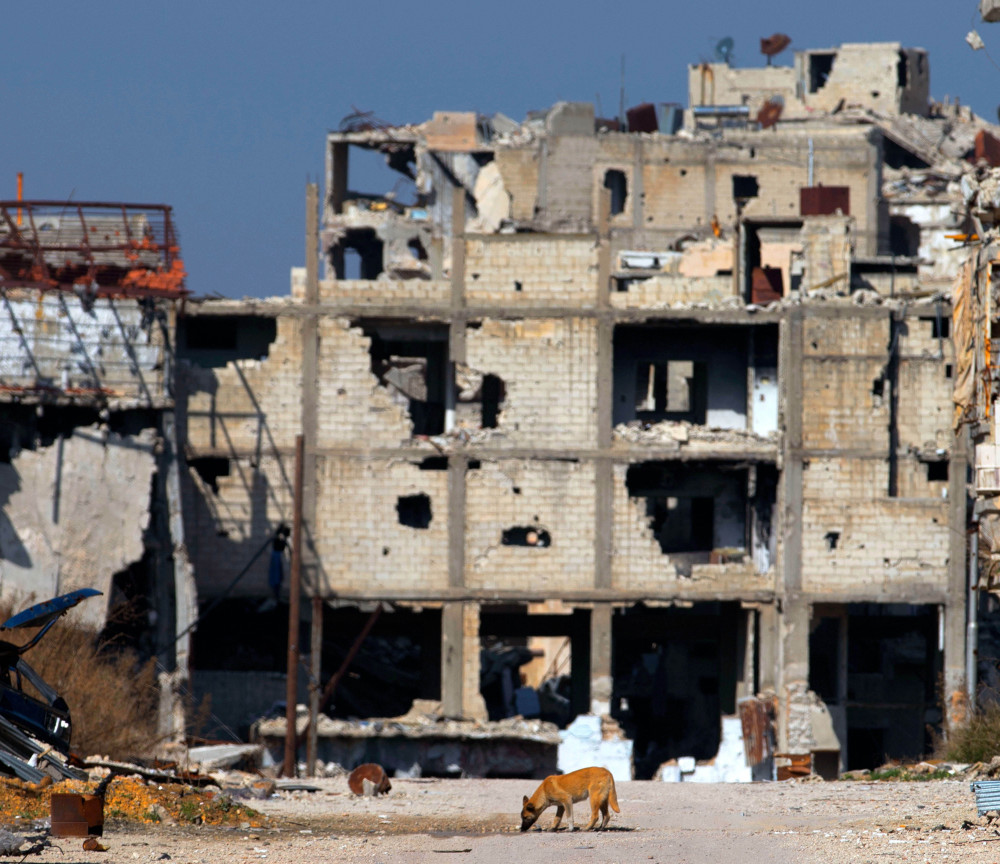 Buildings sit in ruins in Homs, Syria, as five years of fighting has torn apart much of the country. A cease-fire allows fighting to continue against the Islamic State group.