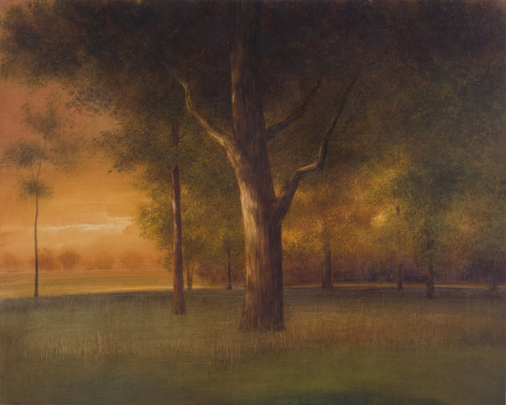 """Michael Lewis' painting """"Deep Roots/Old Strength."""""""