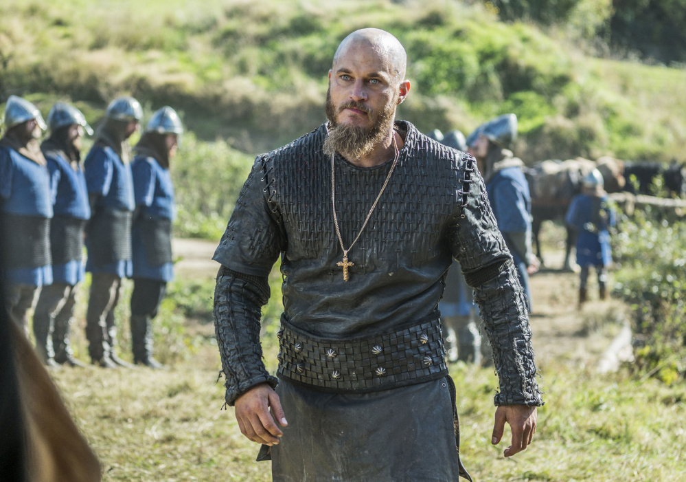 Travis Fimmel as the Nordic ruler Ragnar Lothbrok.