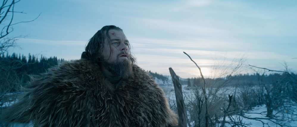 "Leonardo DiCaprio as the frontiersman Hugh Glass in ""The Revenant."""