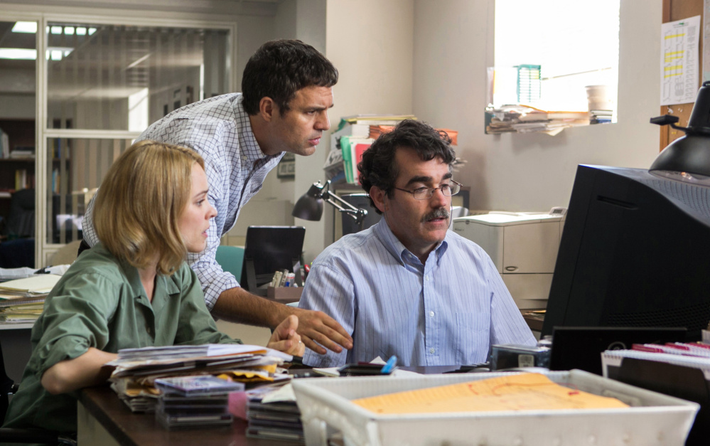 "Open Road Films Rachel McAdams, Mark Ruffalo and Brian d'Arcy James in ""Spotlight."""