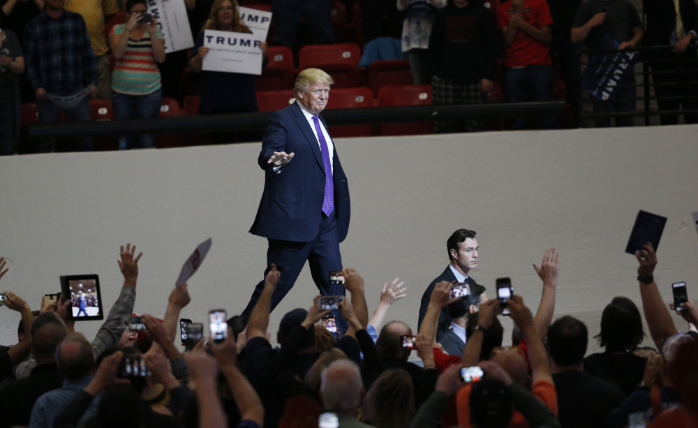 "Donald Trump has scored his stage entrances for campaign events to Twisted Sister's ""We're Not Gonna Take It."""