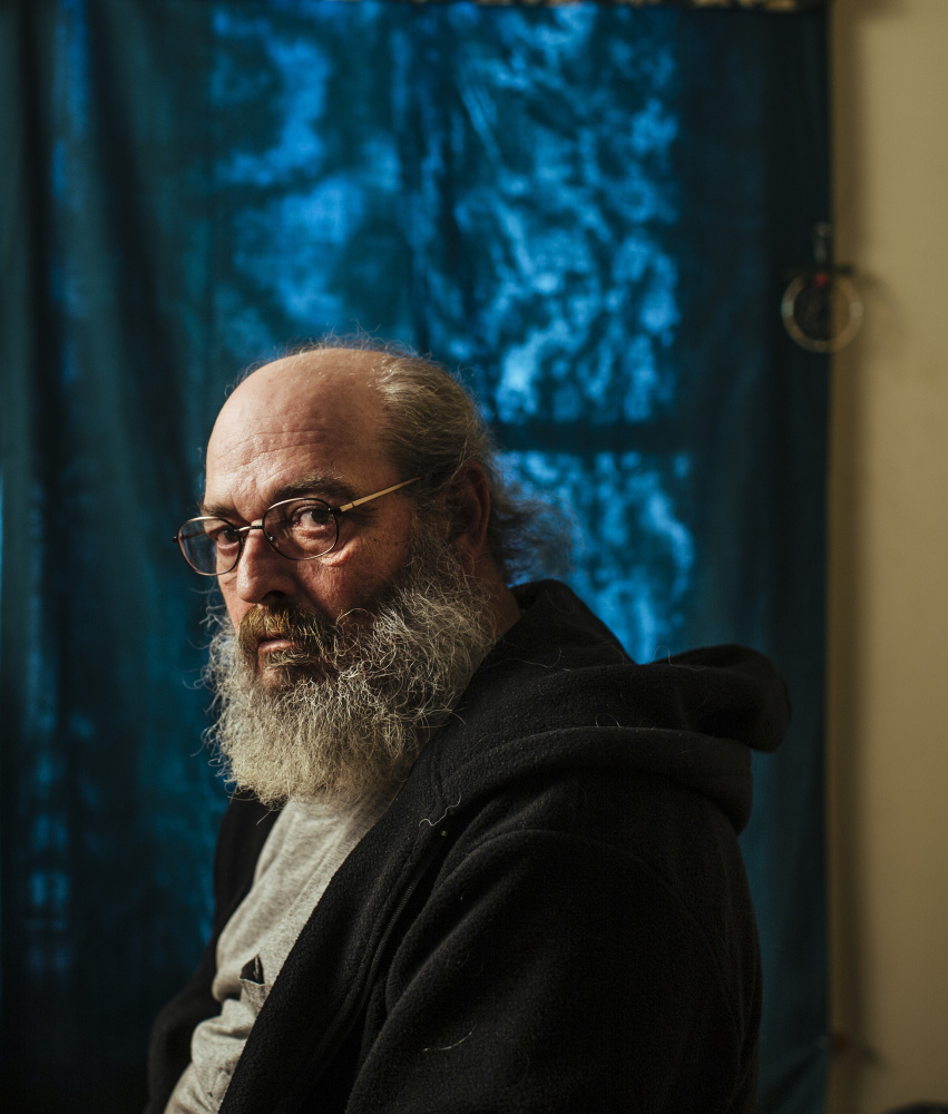 Al Wheeler, 61, was evicted without cause when the Wilmot Street building he lived in was sold last year in Portland. Unable to find a place in the city, the former Marine moved to Westbrook.