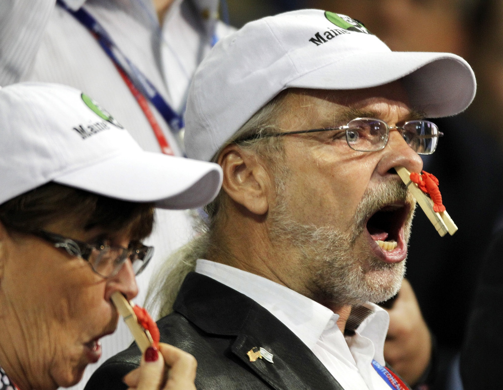 Protests on the convention floor by Maine delegates supporting Ron Paul became one of the only spontaneous distractions in the otherwise scripted-for-TV Republican National Convention in 2012.