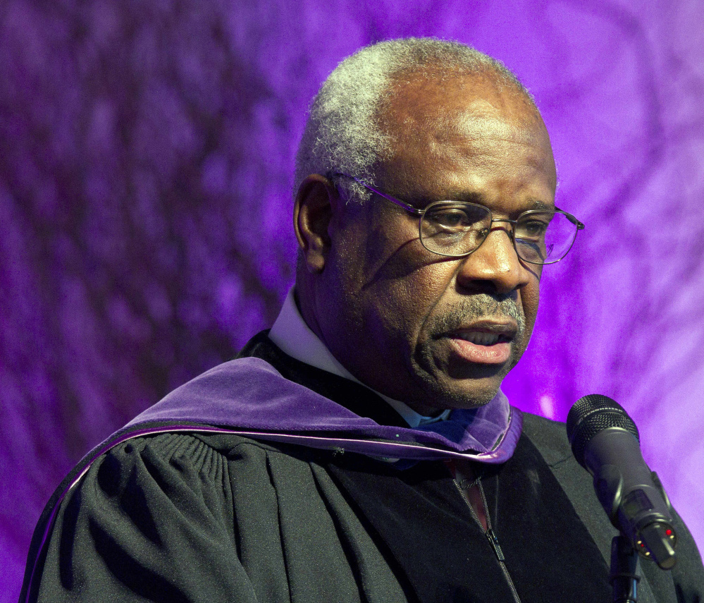 "The attorney for two Maine men says ""I was amazed"" when high court Justice Clarence Thomas broke his 10-year silence Monday."
