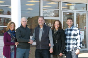 97400 Rogers Ace owners; Gayle and John Hichborn congratulate the Falcone family, the new business owners.