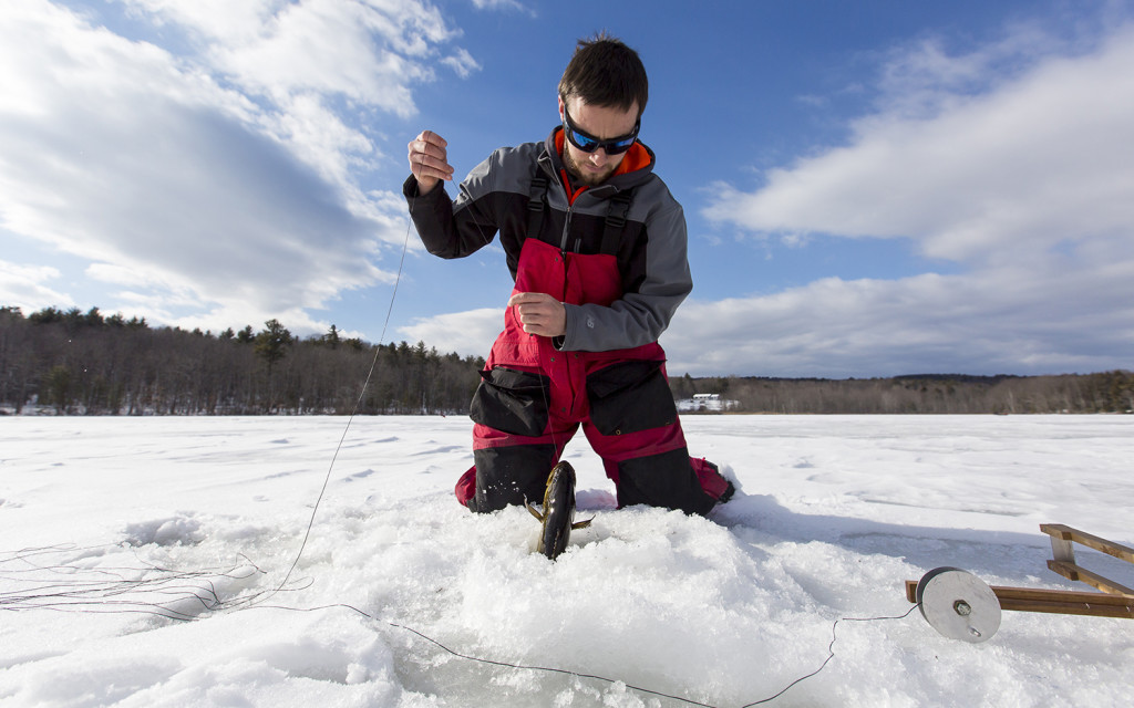 Last year 39 s sebago derby winner plotting his course for Maine ice fishing derbies