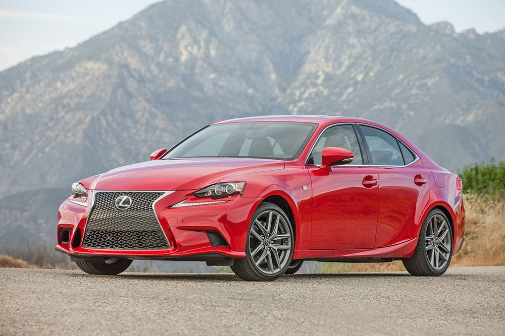 Lexus gets the highest rating for dependability in the J.D. Power survey. Shown is the 2016 Lexus IS 200t F Sport, the smallest and least expensive sedan at Lexus.