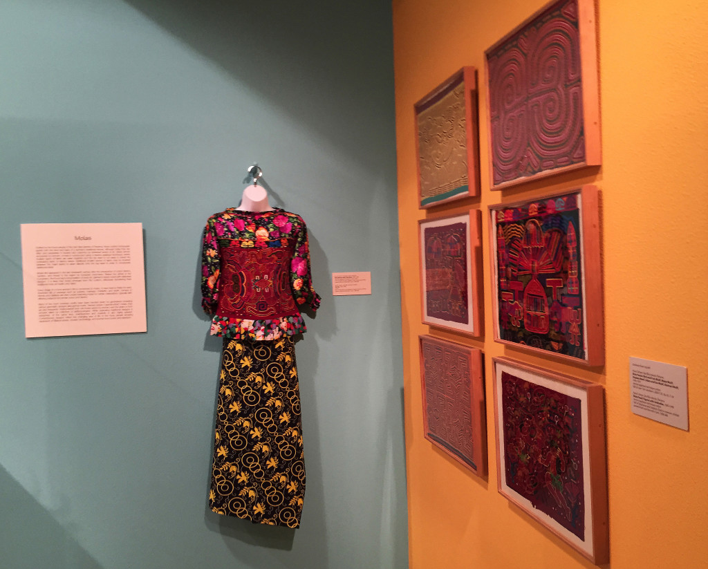 The Kona tribe from the San Blas islands of Panama created this colorful piece of clothing by cutting and stitching layers of colored fabric using applique techniques.   The Associated Press