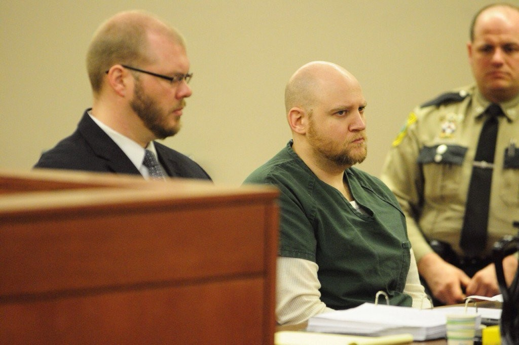 Wade Robert Hoover, 38, of Augusta appears in court at the Capital Judicial Center Wednesday. Staff photo by Joe Phelan