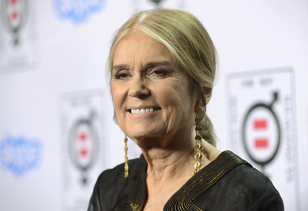 Writer and activist Gloria Steinem attends the