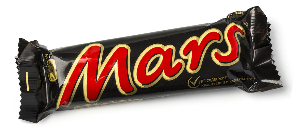 Mars is recalling five of its candy products in Europe after plastic was found in a package. Shutterstock image