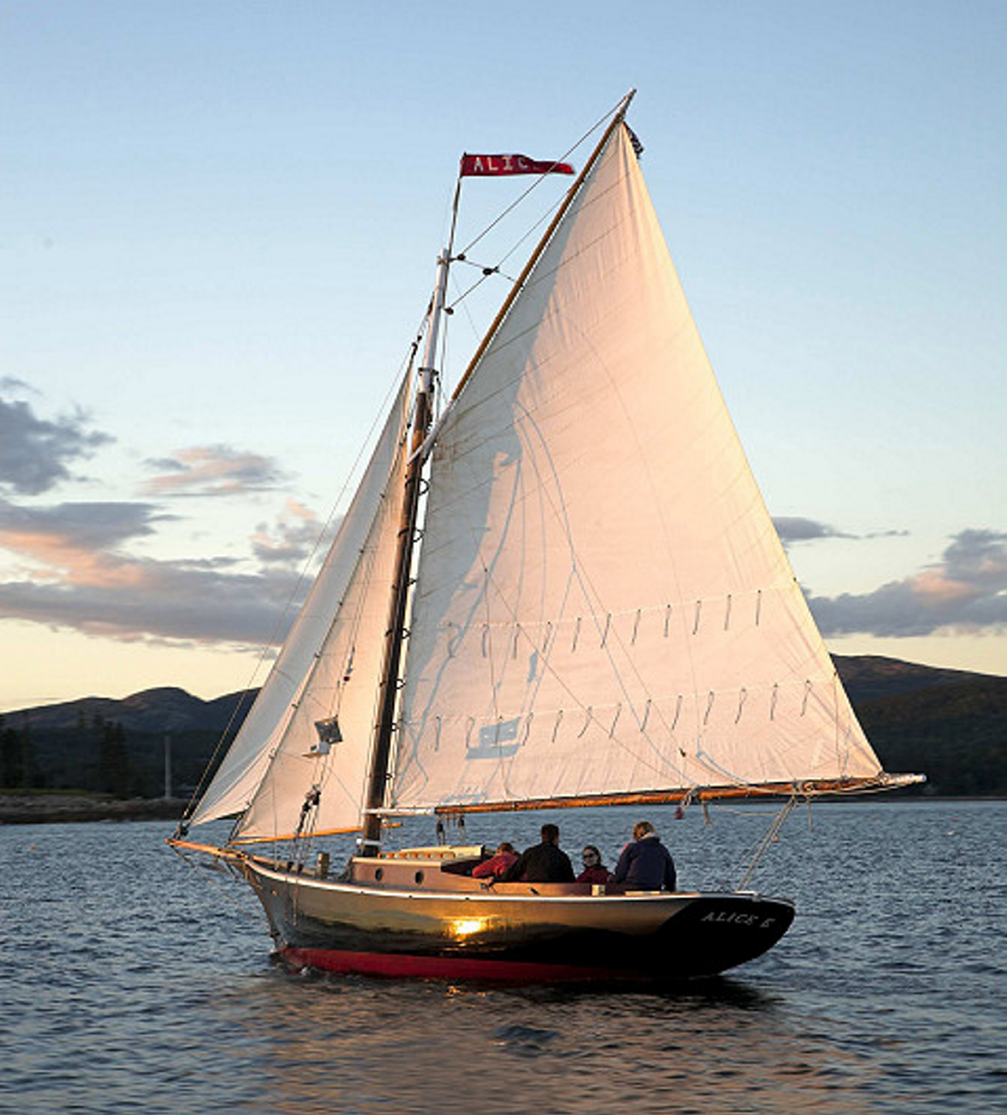 Couples who want to be married on the water could rent the Friendship sloop Alice E. Photo courtesy of SailAcadia