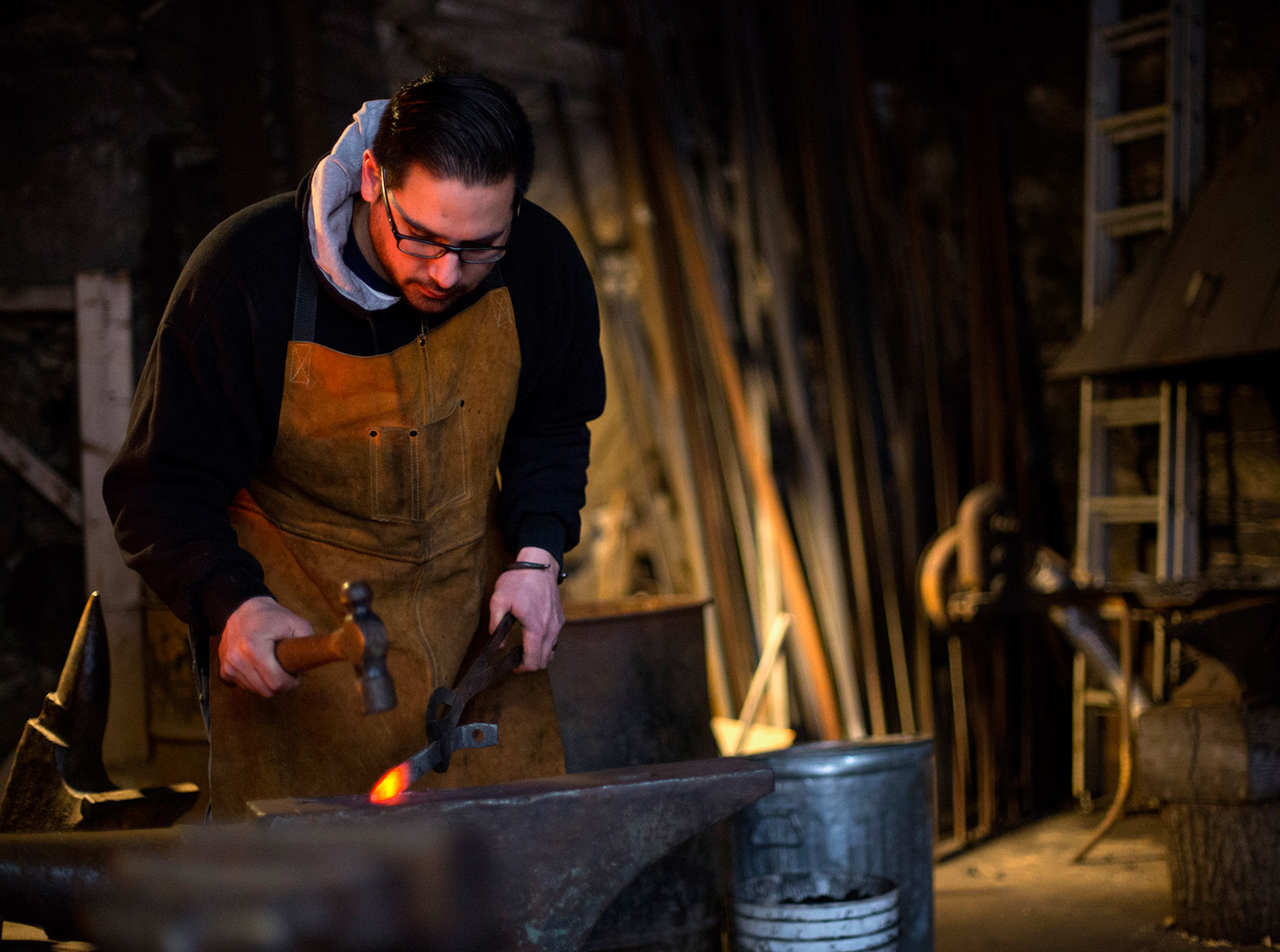 Old fashioned blacksmith forge 47
