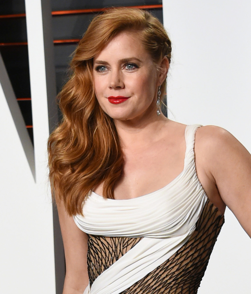 Amy Adams arrives at the Vanity Fair Oscar Party in Beverly Hills last Sunday.