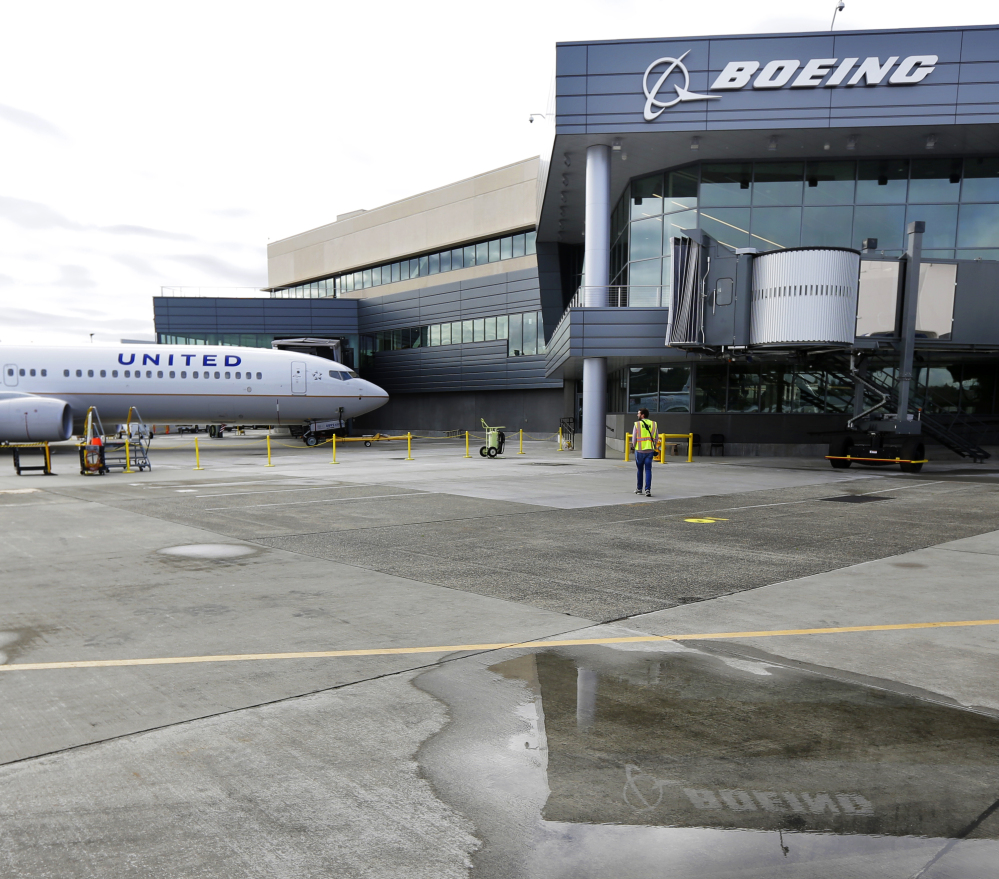 Boeing has filed a patent for its self-cleaning bathroom. Its engineers are also working on a hands-free door latch.