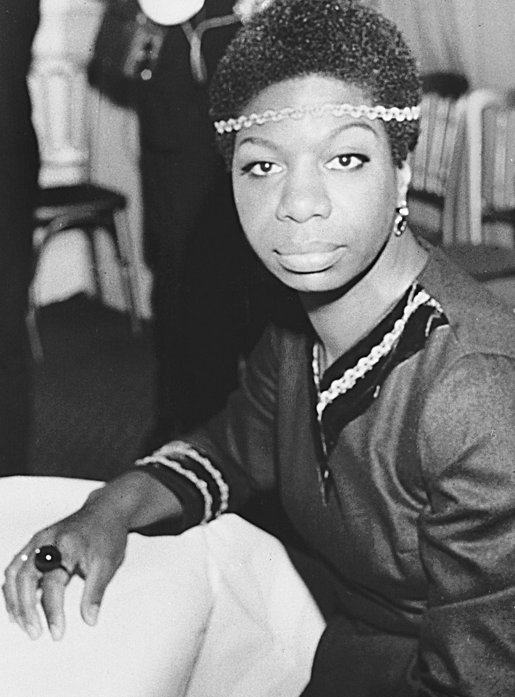 Singer and activist Nina Simone, photographed in London in 1968. Simone will be played by lighter-skinned Zoe Saldana.