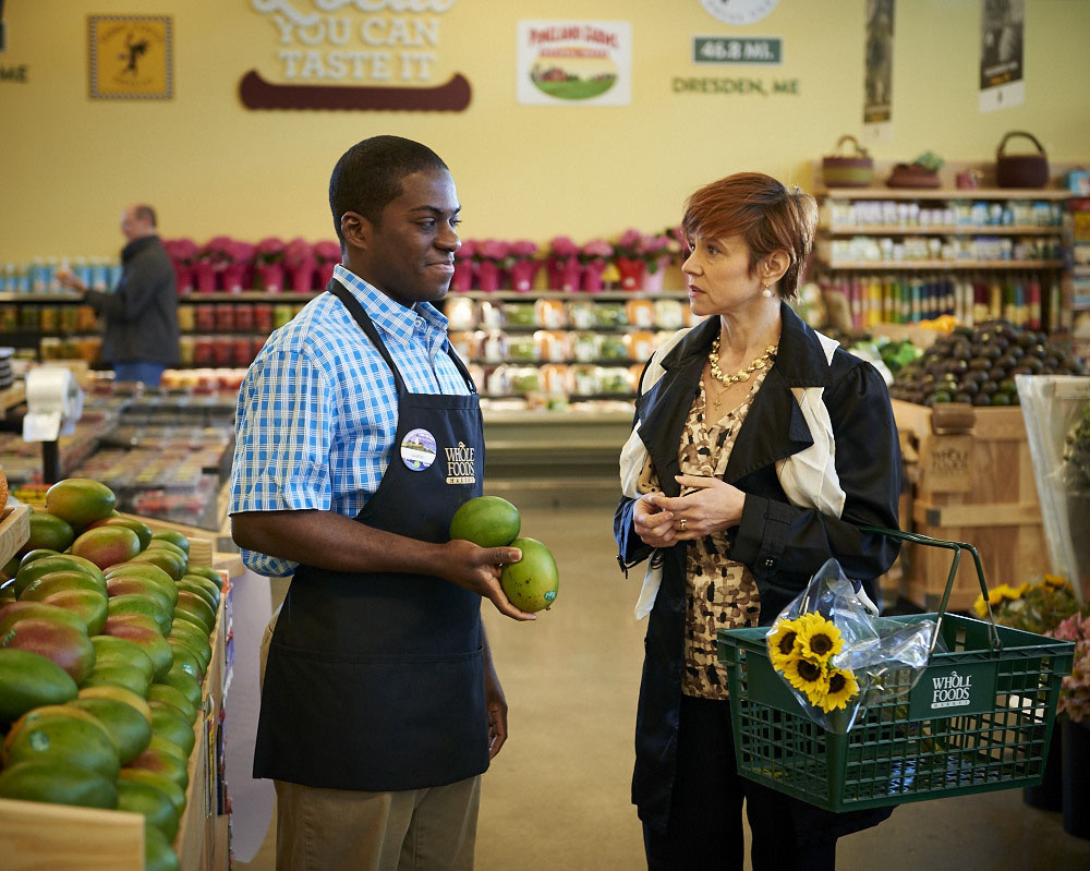 "Tyrone Davis Jr. and Mhari Sandoval in ""Lost Boy at Whole Foods."""